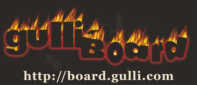 Nachgebaute Fassung des alten Flammenlogos, gebaut für das erste gulli:board - T-Shirt